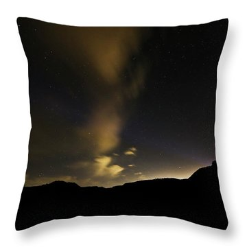 Night Time At Palo Duro Canyon State Park - Texas Throw Pillow