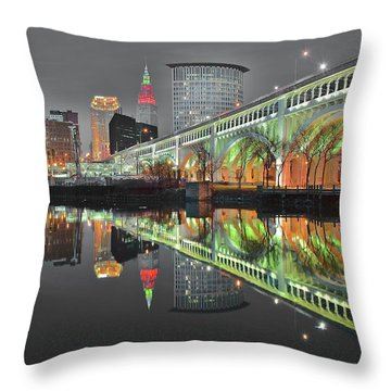 Throw Pillow featuring the photograph Night Time Glow by Frozen in Time Fine Art Photography