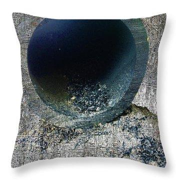 Throw Pillow featuring the mixed media Night by Tony Rubino
