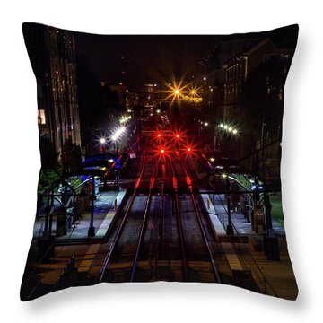 Night Tracks Throw Pillow