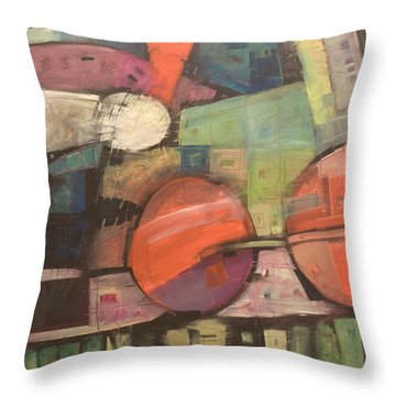 Night Train Throw Pillow by Tim Nyberg
