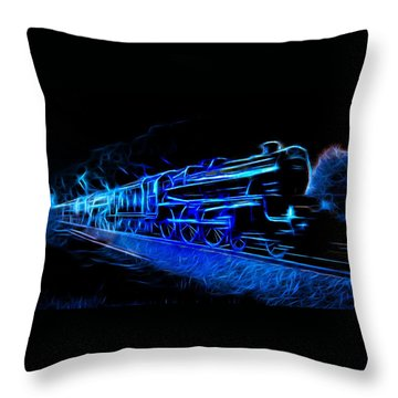 Throw Pillow featuring the photograph Night Train To Romance by Aaron Berg
