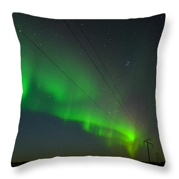 Throw Pillow featuring the photograph Night Vision by Carl Young