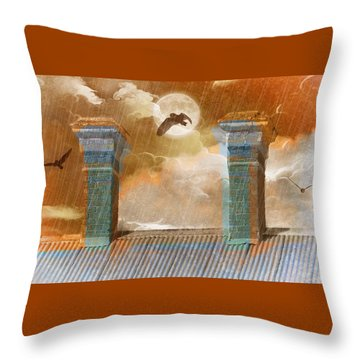 Night Vision Throw Pillow by Holly Kempe