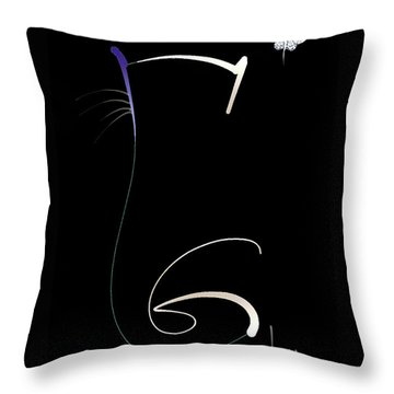 Throw Pillow featuring the mixed media Moonlight Rendezvous by Larry Talley