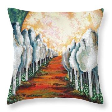 Night Walk II Throw Pillow by Latasha Becker