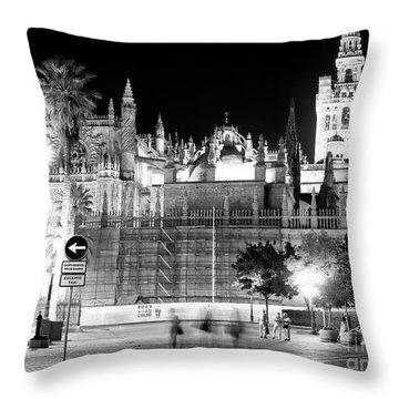 Catedral De Sevilla Throw Pillows