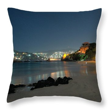 Throw Pillow featuring the photograph Night Walk On La Ropa by Jim Walls PhotoArtist