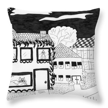 Throw Pillow featuring the painting Night Watch by Lou Belcher
