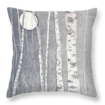 Night Watchmen Throw Pillow by Lisa Le Quelenec
