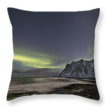 Night Waves Throw Pillow