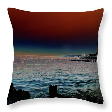 Night Winds And Waves Throw Pillow
