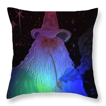 Throw Pillow featuring the painting Night Wizard by Kevin Caudill