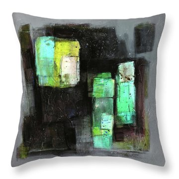 Texture Of Night Painting Throw Pillow by Behzad Sohrabi