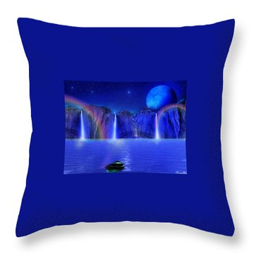 Nightdreams Throw Pillow by Bernd Hau