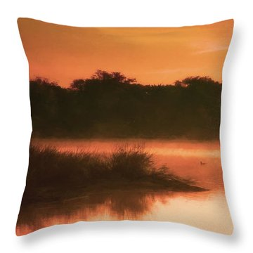 Nightfall Ducks Throw Pillow