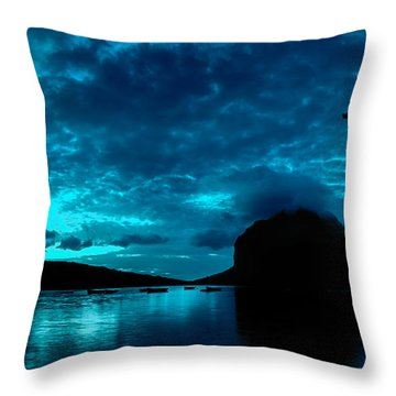 Nightfall In Mauritius Throw Pillow