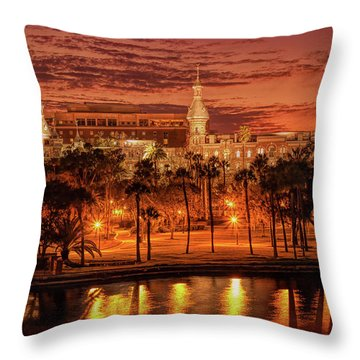 Nightfall In Tampa Throw Pillow