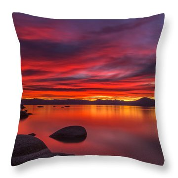 Nightfall Throw Pillow by Marc Crumpler