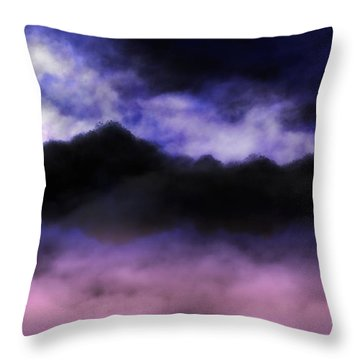 Throw Pillow featuring the painting Nightfall by Mark Taylor