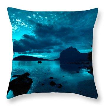Nightfall Near Le Morne Throw Pillow