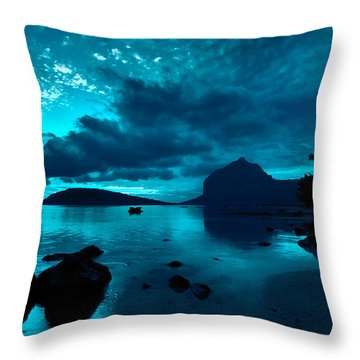 Nightfall Near Le Morne Throw Pillow