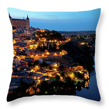 Nightfall Over Toledo Throw Pillow by Harry Spitz