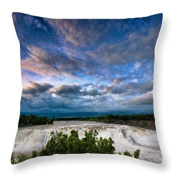 Nightfalls Throw Pillow
