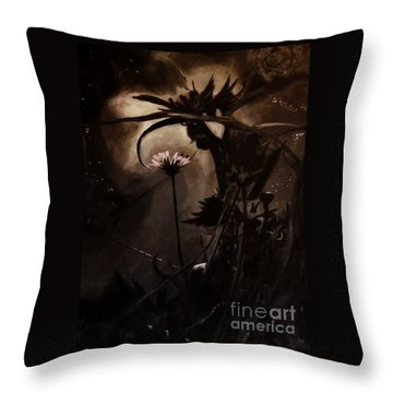 Throw Pillow featuring the painting Nightflower by Vanessa Palomino