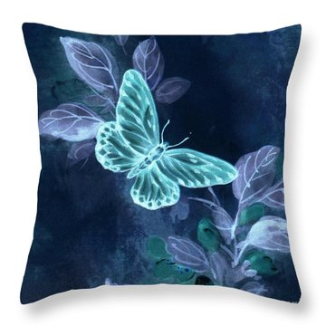 Nightglow Butterfly Throw Pillow