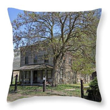 Nighthawk Ghost Town Hotel - Washington State Throw Pillow by Daniel Hagerman