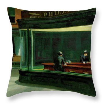 Nighthawks Throw Pillow by Sean McDunn