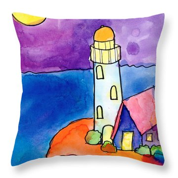 Nighthouse Throw Pillow