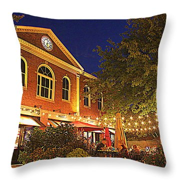 Nightime In Newburyport Throw Pillow