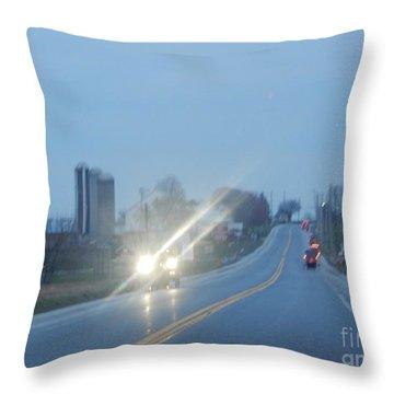 Nightime Travel Throw Pillow