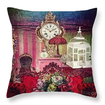 Nightingale Throw Pillow by Mo T