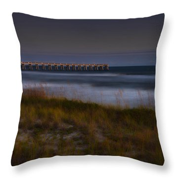 Throw Pillow featuring the photograph Nightlife By The Sea by Renee Hardison