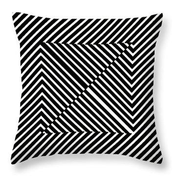Nightlife Illusions Throw Pillow
