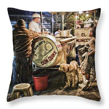 Nightlife In Guatemala Throw Pillow
