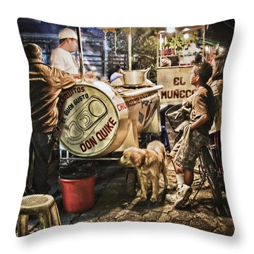 Nightlife In Guatemala Throw Pillow
