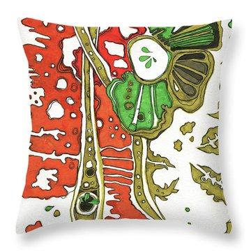 Nightmare In The Garden Throw Pillow
