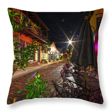 Nights In Oldtown Throw Pillow by Robert Och