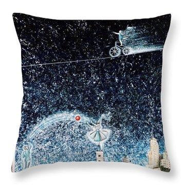 Nights Of Fun Throw Pillow by Graciela Bello
