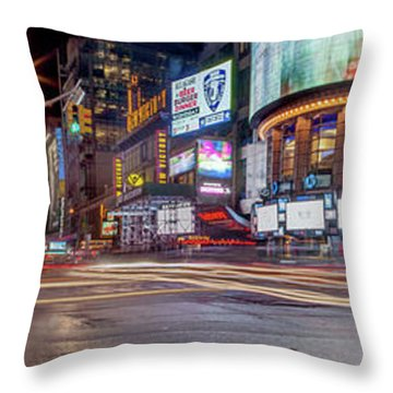 Nights On Broadway Throw Pillow
