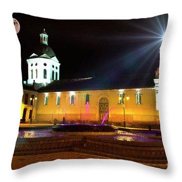 Throw Pillow featuring the photograph Nighttime At San Sebastian by Al Bourassa
