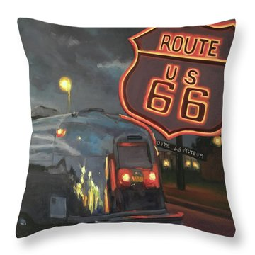 Nighttime Cruise Throw Pillow
