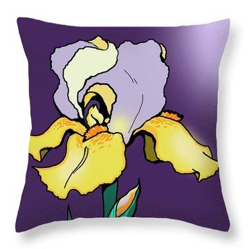 Nighttime Iris Throw Pillow