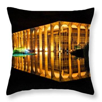 Throw Pillow featuring the photograph Nighttime Reflections by Kim Wilson