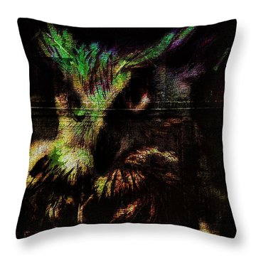 Nightvision Throw Pillow by Mimulux patricia no No