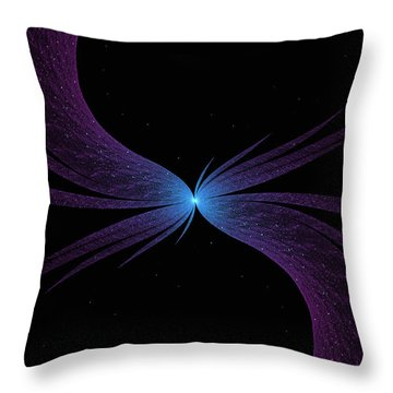 Nightwing Throw Pillow by Lea Wiggins